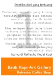 gallery batik coffee art
