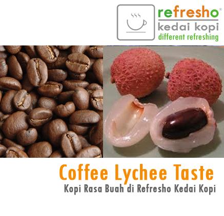 Kopi rasa buah Lychee