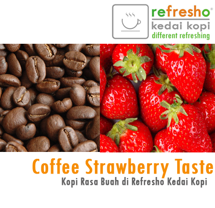 Kopi rasa buah Strawberry
